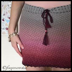 """""""West Coast Whirl"""" - virkad kjol"""