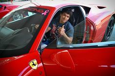 One more thumbs up from the 458 madness. Reality Tv Stars, Ferrari 458, Bodybuilder, Supercar, Madness, Racing, California, Actors, Adventure