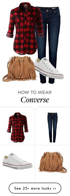 """Bez naslova #279"" by branki on Polyvore featuring Anine Bing, LE3NO, Converse and Rebecca Minkoff"
