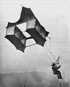 Cody man lifting kite system