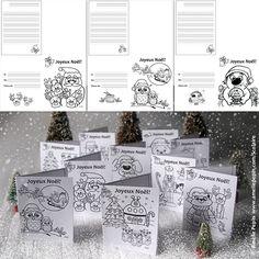 Fichiers PDF téléchargeables En noir et blanc seulement 12 pages (12 modèles) Version avec lignes trottoirs et version sans ligne  Ces documents contiennent 12 modèles de cartes à colorier pour vos échanges entre élèves et/ou entre classes. Il suffit de plier la feuille en 4. Vous avez le choix entre le document avec trottoirs et celui sans ligne.