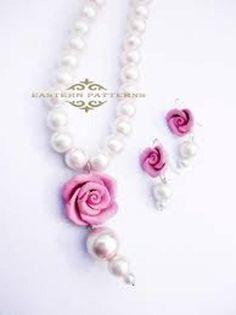Pearl flower jewelry set made by sarosh shamsi from LC.Pandahall.com