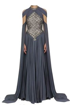 Blue/grey-gold and silver dress by on DeviantArt Beautiful Gowns, Beautiful Outfits, Pretty Outfits, Pretty Dresses, Fantasy Gowns, Fantasy Clothes, Medieval Dress, Dream Dress, Costume Design