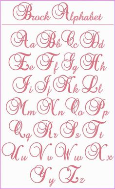 "! ! ! Brock Alphabet ! ! ! This is a beautiful, elegant alphabet that you'll want to use whenever you're looking for the perfect letters for a monogram.  The upper case letters stitch at 3"" tall and the lower case letters are between .75"" to 2.25"" tall.  Use them on bed linens, kitchen items, towels, clothing, totes, anywhere you want to add a touch of elegance.:"