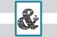 GroopDealz | Personalized Ampersand Print