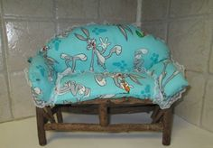 Miniature Sofa Rustic by markybell on Etsy