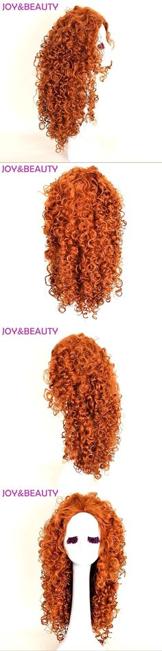 "JOY&BEAUTY Hair 22"" Brave Merida cosplay wig Long Curly Synthetic Hair High Temperature Fiber For Women Wig"