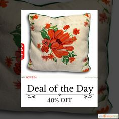 Today Only! 40% OFF this item. Follow us on Pinterest to be the first to see our exciting Daily Deals. Today's Product: Sale -  Large Vintage Preppy Chic Hand Stiched Wool Needlepoint & Velvet Decorative Pillow Buy now: https://orangetwig.com/shops/AABdT38/campaigns/AACmnzZ?cb=2016006&sn=Heathertique&ch=pin&crid=AACmoyB&exid=249197265&utm_source=Pinterest&utm_medium=Orangetwig_Marketing&utm_campaign=05-02-16   #vintagefurnitureonline #homedecor