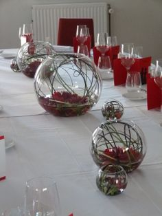 Mariage rouge et noir - table d'honneur.
