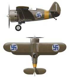 in Finnish Ilmavoimat Ww2 Aircraft, Military Aircraft, Finnish Air Force, Ww2 Planes, Aviation Art, Luftwaffe, World War Two, Airplanes, Wwii