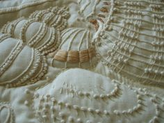 embroidery texture shells