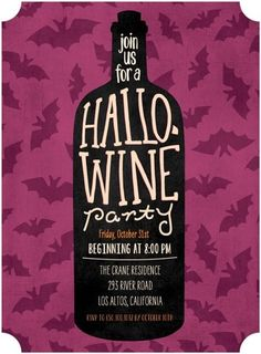 Eat, drink and be scary with a Hallo-wine party this October.