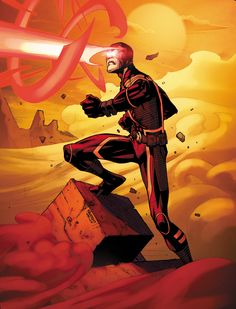 Cyclops by Ray-Anthony Height, inks by Larry Welch, colours by Tony Washington *