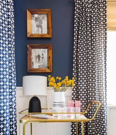 Image Via: Style By Emily Henderson Paint is: Newburyport Blue by Benjamin Moore Living Room Decor, Living Spaces, Dining Room Inspiration, California Homes, Office, My New Room, Magnolia, New Homes, House Design