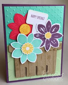Use the Stampin' Up! Berry Basket die to Create a Flower Basket Card!! Elaine's Creations