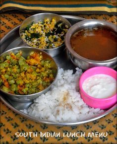 South Indian lunch menu-3 http://www.upala.net/2015/04/south-indian-lunch-menu-simple-3.html