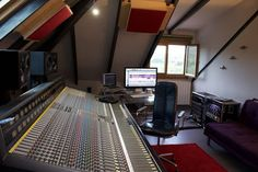 The Control Room at Supertone Records Supertone Records Control Room - with 40 channel Trident Vector console and ATC SCM25A monitors. #studio #recording #music