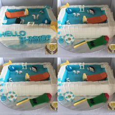 Con este pastel 1C celebra hoy el fin de curso y la llegada del verano con un baño muy dulce # swimming pool # holidays# cake # sweet #