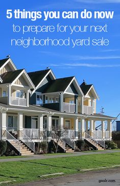 5 things you can do now to prepare for your next HOA Neighborhood Yard Sale - Modern Garage Sale Signs, Yard Sale Signs, Garage Sale Pricing, For Sale Sign, Garage Sale Organization, Neighborhood Garage Sale, Yard Before And After, Yard Games For Kids, Diy Yard Decor