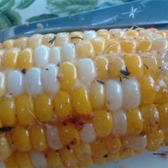 The grilled corn recipe for Jeremy. Like I said b4, I usually half the recipe and have plenty left over. I usually also ends up adding more melted butter and olive oil near the end to,  bc there's always extra herb cheese mix at the bottom of container
