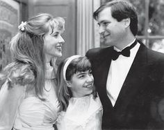 Steve and Laurene Powell Jobs with his daughter Lisa Brennan-Jobs at their wedding in 1991