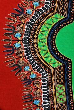 Dashiki - Orange Rust   African Fabric House