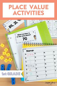 Needs some hands on place value activities for first grade?! Check out this blog post with some of my favorite place value ideas, games, and activities!