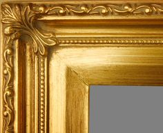 """Beautiful Picture Frame! Perfect For Artwork, Photographs, Canvas Paintings, Oil Paintings, Watercolor Paintings, Acrylic Paintings, Portraits, Wedding Pictures, Diplomas, Family Photographs & More.  Classic Ornate Wooden Gold 2.25"""" Wide Picture Frame."""