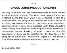 Chuck Lorre Productions #389  Big Bang Theory