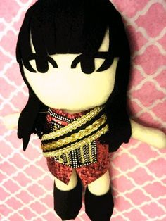 Kpop 2ne1 Park Bom plushie plush toy doll toy Crush by kirbychan. For more kpop goodies and kpop fan made plushies please visit my KpopStore!