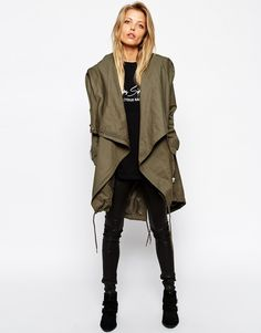 Image 1 ofASOS Parka with Waterfall Front