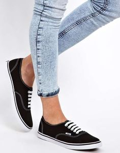 Vans | Lo Pro Classic Black and White Lace Up Sneakers #vans #laceup #sneakers