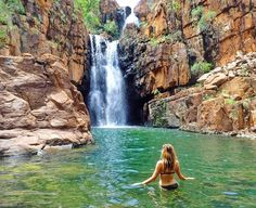 It's a three and a half hour drive south of Darwin, right near Katherine and will take you about an hour and a half to get to the falls from the Nitmiluk Visitors Information Centre. Australia Honeymoon, Australia Travel, Places To Travel, Places To See, Travel Destinations, Darwin Australia, Australian Photography, Waterfall Fountain, Travel Around The World