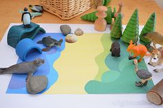 Printable Imaginative Play Mats These free printable play mats are a easy way to set up some imaginative play.