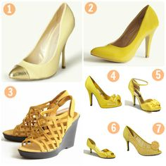 Yellow Wedding Shoes - I like numbers 4 and 6.