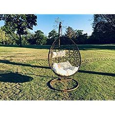 Super range of Hanging Egg Chairs & Cocoon Garden Swing Chairs That Are Unique & trendy That Provide comfoort And Ultimate Relaxation for outdoor/ indoor. Egg Swing Chair, Hanging Egg Chair, Swinging Chair, Egg Shape, Ways To Relax, Reduce Stress, Indoor Outdoor, Chairs, Eggs