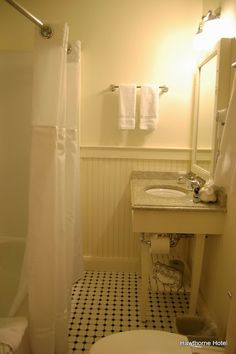 Hawthorne Hotel.  Upgraded bathrooms throughout the hotel.