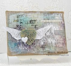 Created by Mona for the Simon Says Stamp Monday Challenge this week to Emboss.  September 2013