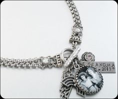 Memory Necklace Remembrance Necklace Photo by BlackberryDesigns, $68.00