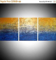 extra large triptych 3 panel canvas wall art #art #painting @EtsyMktgTool http://etsy.me/2xA9msr