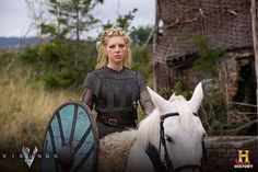 one tough woman Vikings Show, Vikings Tv Series, Viking Timeline, Tough Woman, Viking Shield, Cinema, Lagertha, Norse Vikings, History Channel