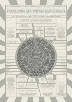 """A Mayan calendar adopted by the Mexica people. The Aztecs lived in """"the land of the egret"""". Mexica were of Aztec descent that migrated to Tenochtilan/The Valley of Mexico/Mexico City,Mexico. Mexica means """"The grass people"""". Ancient Aliens, Ancient History, Aztec Symbols, Mayan Symbols, Aztec Culture, Aztec Calendar, Aztec Art, Mexica, Mesoamerican"""
