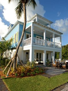 Tropical house design on pinterest tropical houses for Wood frame house in florida