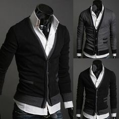 Men's Fashion Slim Fit Knit Cardigan