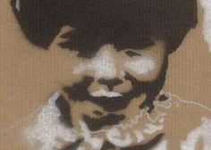 Spray-paint portrait