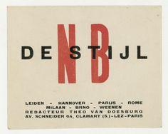 Business card of Theo van Doesburg | Ihr Museum für moderne und zeitgenössische Kunst in Berlin