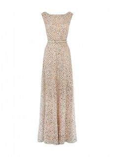 Desire sequin maxi dress I could wear this with a cashmere shrug.