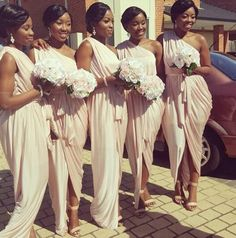 African American Grecian Bridesmaid dresses More