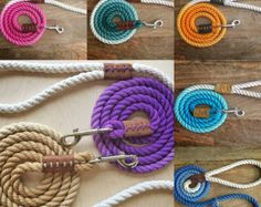 Etsy の Rope Dog Leash Gray Ombré by MullandHound
