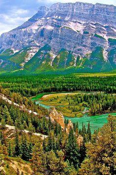 ✯ Hoodoos By Bow River -Banff - Alberta, Canada
